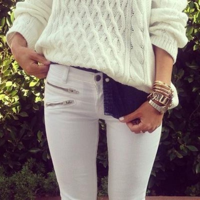 Ast92j-l-c680x680-pants-black-and-white-jeans-skinny-jeans-sweater-jumper-long-sleeved-white ...