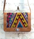 Boho brown leather satchel bag - The Stellar Boutique
