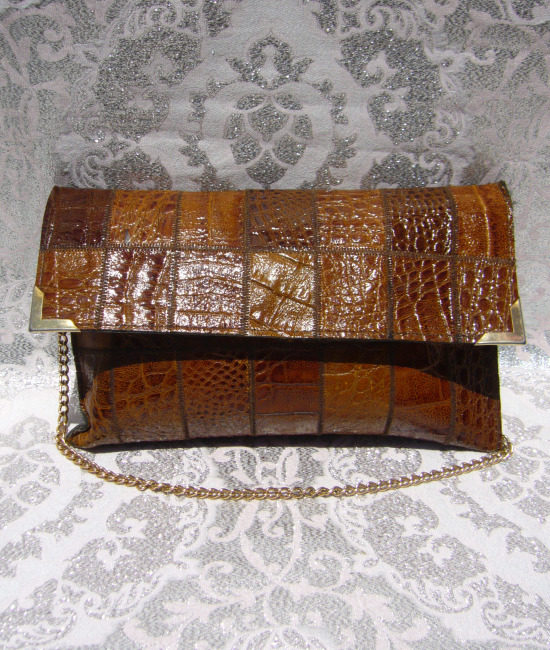 70s mock croc chain bag 1