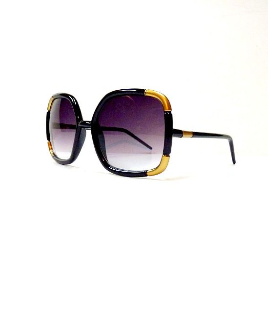 70s style sunglasses, black - The Stellar Boutique