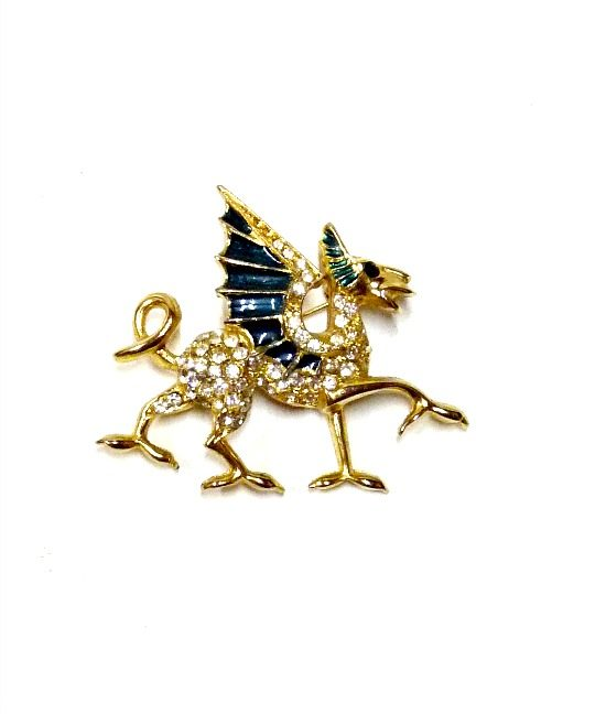 70s vintage 'Sardi' dragon brooch