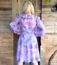 70s vintage floral dress, lilac and purple floral detail 111
