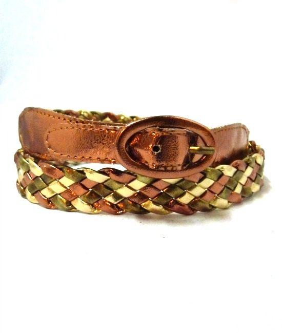 70s vintage metallic belt