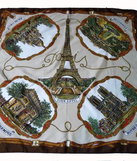 70s vintage scarf paris eiffel tower the stellar boutique - Boutique meuble vintage paris ...