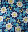 70s vintage scarf blue flower power 11