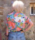 80s vintage bright patterned shirt 111