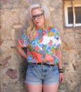 80s vintage bright patterned shirt 1111