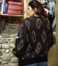 80s vintage chunky knit grandad cardigan 111