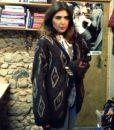 80s vintage chunky knit grandad cardigan 1111