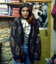 80s vintage chunky knit grandad cardigan 11111