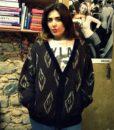 80s vintage chunky knit grandad cardigan 111111