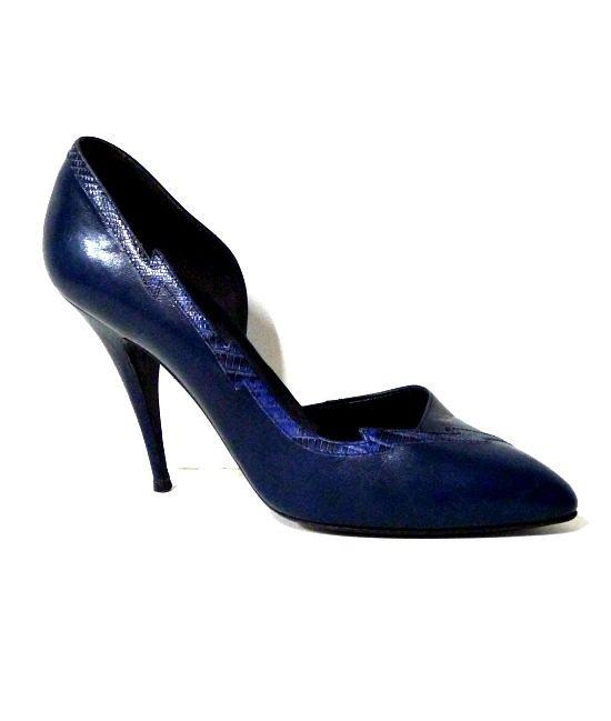 80s vintage navy 'Mary Popps' stiletto shoes 1