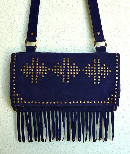 70s vintage boho tassel bag 1