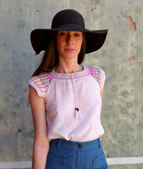 70s vintage crochet top 11