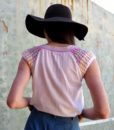 70s vintage crochet top back