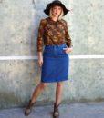 70s vintage floral blouse 1