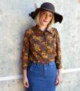 70s vintage floral blouse 2