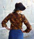 70s vintage floral blouse back