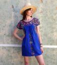70s vintage folk dress 111
