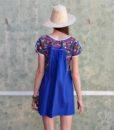 70s vintage folk dress back