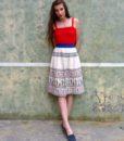 70s vintage folk skirt 1