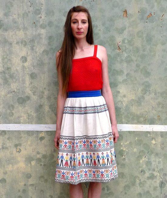 70s vintage folk skirt 11