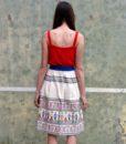 70s vintage folk skirt back