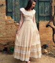 70s vintage lace maxi dress 2