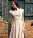 70s vintage lace maxi dress 4