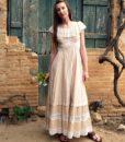 70s vintage lace maxi dress 5