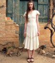 70s vintage maxi dress 1