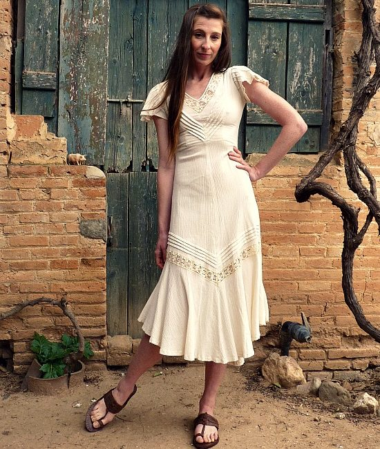 70s vintage maxi dress 2
