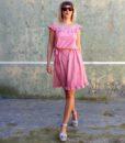 70s vintage pink summer dress 2