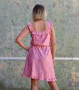 70s vintage pink summer dress 3