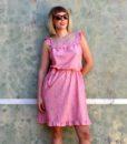 70s vintage pink summer dress 4
