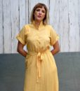 70s vintage yellow midi dress 2