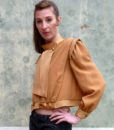 80s vintage gold blouse 11