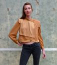 80s vintage gold blouse 111