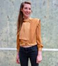 80s vintage gold blouse 1111