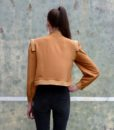 80s vintage gold blouse back