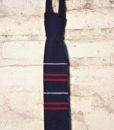 vintage skinny tie woven & stripe detail 1