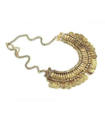 arabic boho coin necklace backside