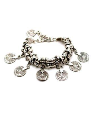 boho coin bracelet 1