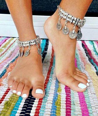 boho coin bracelet ankle chain