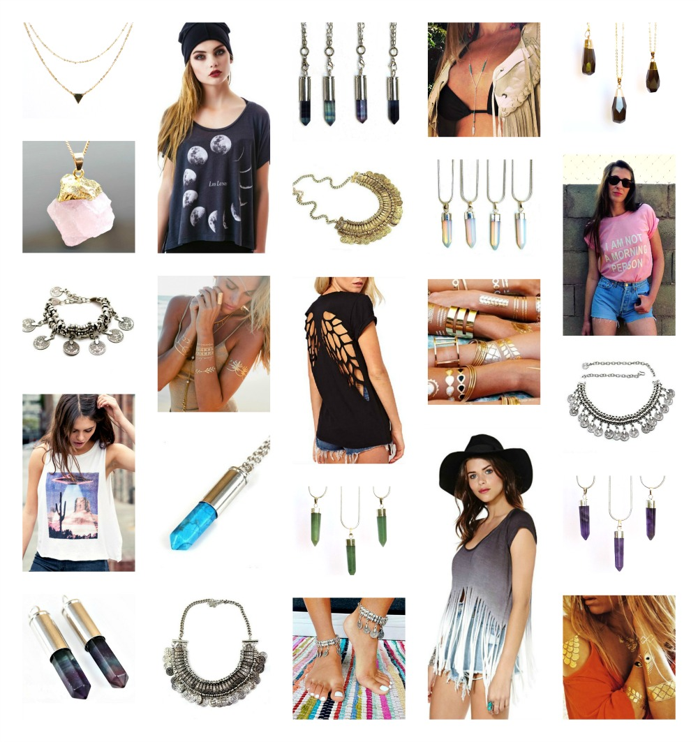 fashion and jewellery Collage