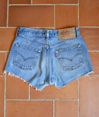 levis high waisted denim shorts 501 3 back