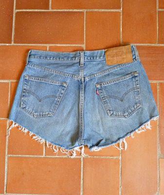 levis high waisted denim shorts 501 4 back