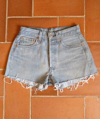 levis high waisted denim shorts 501 5