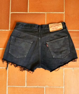 levis high waisted denim shorts 501 9 back