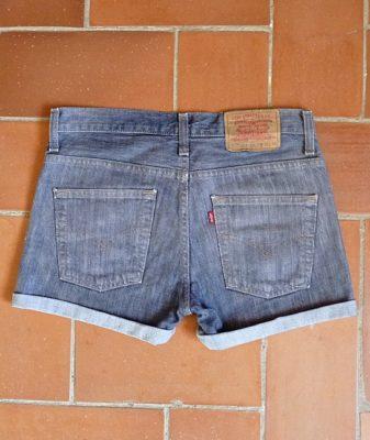 levis high waisted denim shorts 507 10 back